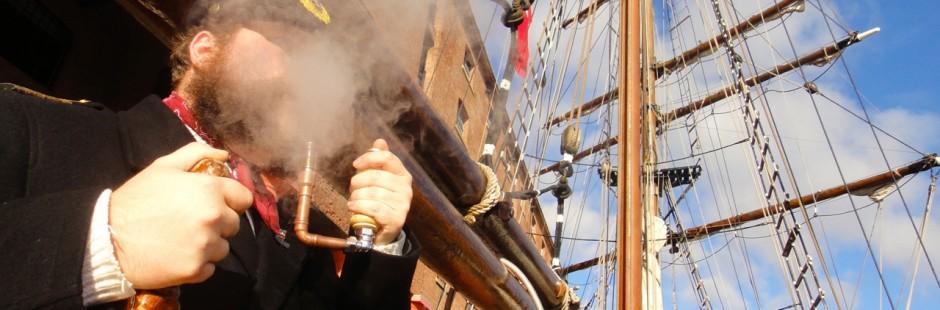"Sailing Ship captain Heath Robinson"" Epipe Electronic pipe e-pipe steampunk pipe vaping smoking"